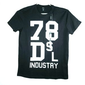NWT Diesel Mens XXL Black and White Graphic Tee